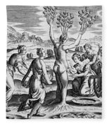 Adonis Being Born From Myrrha Fleece Blanket