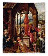 Adoration Of The Magi Fleece Blanket