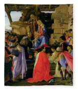 Adoration Of The Magi Fleece Blanket