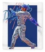 Adrian Gonzalez Los Angeles Dodgers Oil Art Fleece Blanket