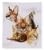 Adroit Fleece Blanket by Barbara Keith