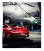 Adv1 Red Porsche 2 Fleece Blanket