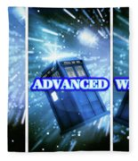 Advanced Whovians Alt Fleece Blanket