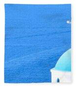 Aegean Blue Fleece Blanket