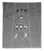 Aerial Circus Act, C.1940s Fleece Blanket