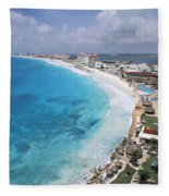 Aerial Of Cancun Fleece Blanket