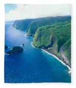 Aerial Of North Shore Fleece Blanket