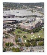 Aerial View Of Atlanta Georgia Fleece Blanket