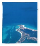 Aerial View Of Cancun Fleece Blanket