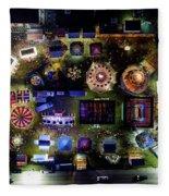Aerial View Of Norco Fair - Pottstown Pa Fleece Blanket