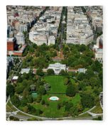 Aerial View Of The White House Fleece Blanket