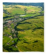 Aerial View Fleece Blanket