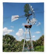 Aeromotor Windmill Fleece Blanket