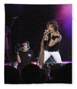 Aerosmith-steven Tyler-00175 Fleece Blanket