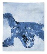 Afghan Hound-blue Fleece Blanket