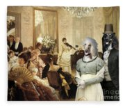 Afghan Hound-the Concert  Canvas Fine Art Print Fleece Blanket