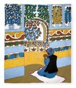 Afghan Mosque Fleece Blanket