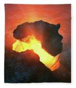 Africa Conceptual Design Fleece Blanket