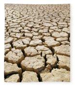 Africa Cracked Mud Fleece Blanket