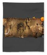 Africa No 02 Fleece Blanket