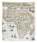 Africa Nova Map Fleece Blanket