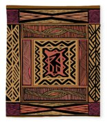 African Bird Collage Fleece Blanket