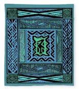 African Blue Bird Fleece Blanket