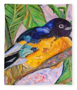 African Blue Eared Starling Fleece Blanket