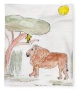 African Cat Fleece Blanket