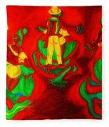 African Dancers Fleece Blanket