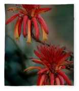 African Fire Lily Fleece Blanket