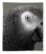 African Gray Fleece Blanket