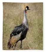 African Grey Crowned Crane Fleece Blanket