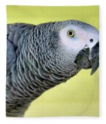 African Grey Fleece Blanket