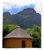 African Hut South Africa Fleece Blanket