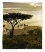African Interlude Fleece Blanket