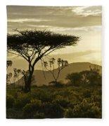 African Interlude Fleece Blanket
