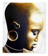 African Lady - Original Artwork Fleece Blanket