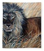 African Lion 2 Fleece Blanket