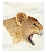 African Lioness Fleece Blanket