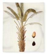 African Oil Palm Fleece Blanket