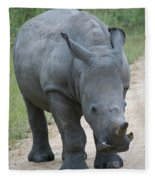 African Rhino Fleece Blanket