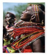 African Rhythm Fleece Blanket