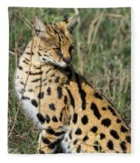 African Serval In Ngorongoro Conservation Area Fleece Blanket
