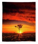 African Sunset Fleece Blanket