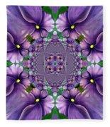African Violet Wave Fleece Blanket