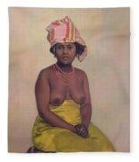 African Woman Fleece Blanket