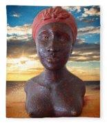 African Woman Fleece Blanket