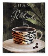 Afrikan Coffees II Fleece Blanket