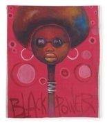 Afro American Women Fleece Blanket